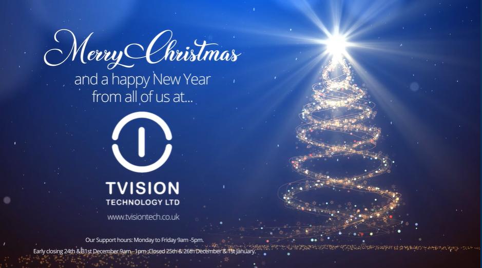 TVision Christmas card 2019