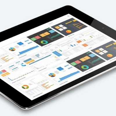 Jet Reports Analytics on Tablet device